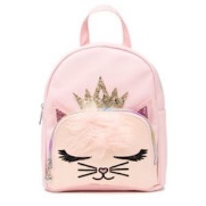 Other - NWT Faux Fur Pink Glitter Kitty Backpack